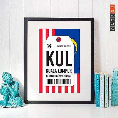 Pôster Aeroporto KUL- LKL International Airport - Kuala Lumpur