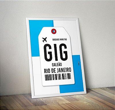 Pôster Aeroporto GIG - Galeão  - Rio de Janeiro