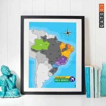 Mapa Raspadinha Brasil. Colecione Destinos