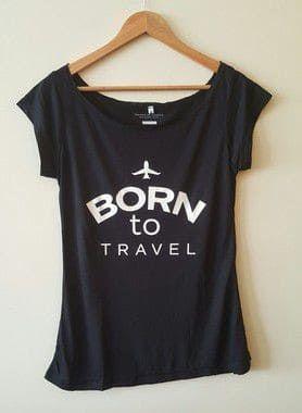 Camisa Feminina - Born To Travel