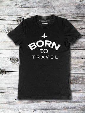 Camisa Unissex Born To Travel