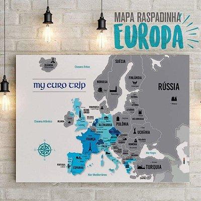 Mapa Raspadinha EUROPA - My Euro Trip