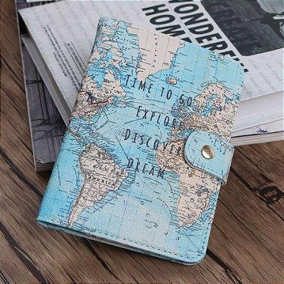 Porta Passaporte Viajante