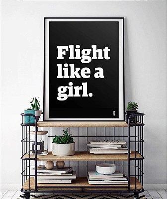 Pôster Flight Like a Girl