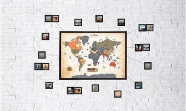 Mapa Raspadinha Vintage + 10 Molduras 10x10