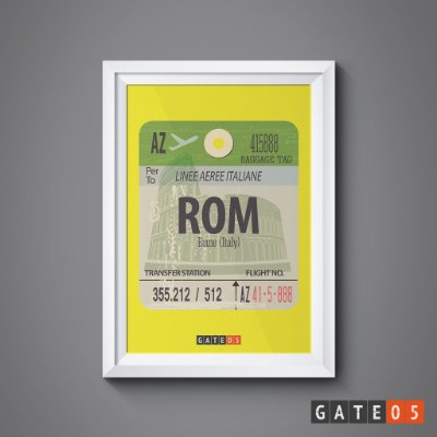 Pôster Tickets Worldwide - Roma, Itália