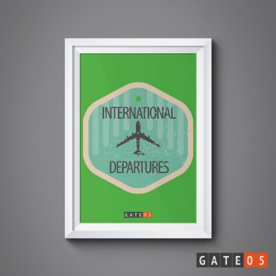 Pôster Internacional Departure