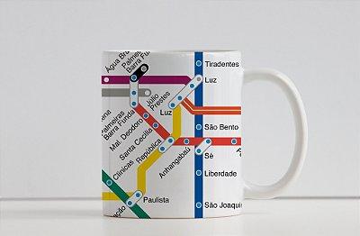 Caneca Coleção Embarque pelo Mundo - Metrô São Paulo