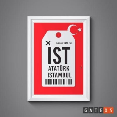 Pôster Aeroporto IST - Istambul, Turquia - ATATURK