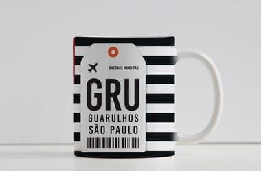Caneca Aeroporto GRU, Guarulhos- São Paulo - Brasil