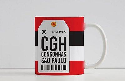 Caneca Aeroporto CHG - Congonhas- São Paulo, Brasil