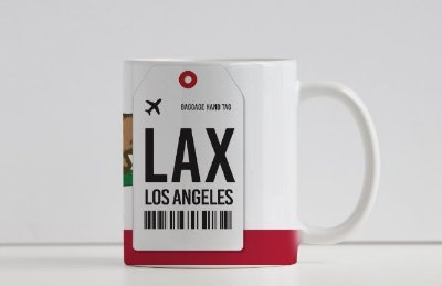 Caneca Aeroporto LAX - Los Angeles