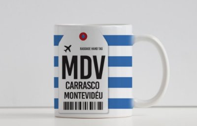 Caneca Aeroporto MVD, Carrasco- Montevidéu - Uruguay