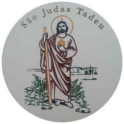 Imagem de São Judas Tadeu Entalhado em Quadro de MDF