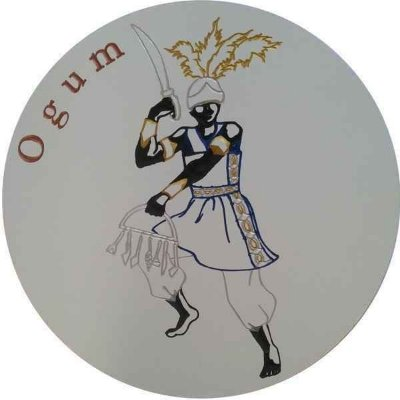 Imagem de Ogum Entalhado em Quadro de MDF