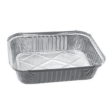 Bandeja de aluminio 131 - Retangular 750 ml - pacote com 10 unidades - Boreda