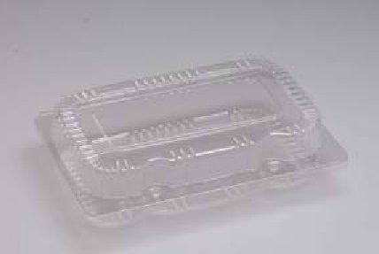Embalagem pet retangular caixa com 100 unidades - S08 - Sanpack