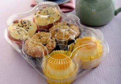 Embalagem para 6 doces ou salgados caixa com 100 unidades - G16 - Galvanotek