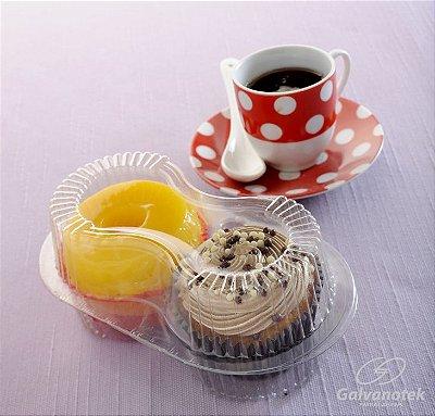 Embalagem para 2 doces , empadas , salgados , cupcake , quindim pacote com 10 unidades - G 14 - Galvanotek