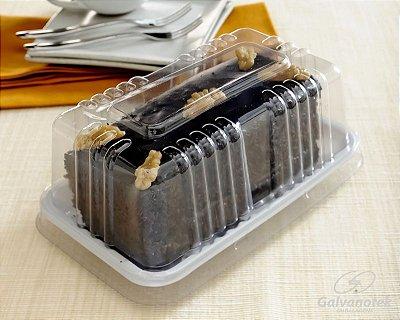 Embalagem mini torta / bolo fatia - pacote com 10 unidades - 300g - G62 M - Galvanotek