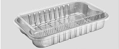 Bandeja SW1933 caixa com 25 unidades - com tampa pet -  1933 ml - Microondas / Forno / Freezer - Wyda