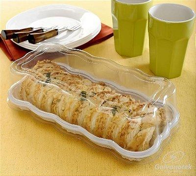 Embalagem para rocambole e torta catarina modelo flower caixa com 10 unidades - 500g - G61 F - Galvonatek