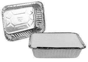 Bandeja de aluminio 120 - 500 ml D6 caixa com 100 unidades - Boreda