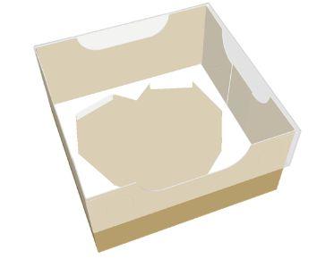 Caixa encanto coração lapidado 250g cor de ouro pacote com 10 - Ideia