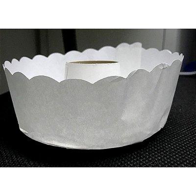 Forma para bolo suíço branca pacote com 50 - 500g - Petropel