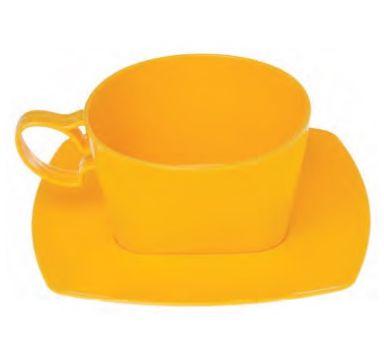 Conjunto xicara com pires amarelo caixa com 30 unidades - 210ml - PW-35 - Wer