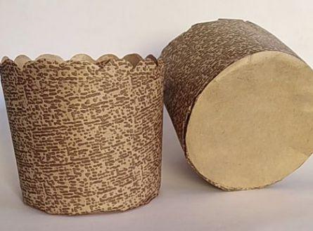 Forma para panetone 100g decorada pacote com 50 - Petropel