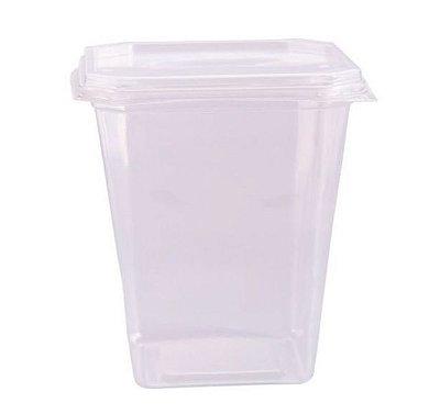 Pote quadrado com tampa caixa com 12 pacotes c/ 20 unidades - 350ml - Ref 8468 - Prafesta