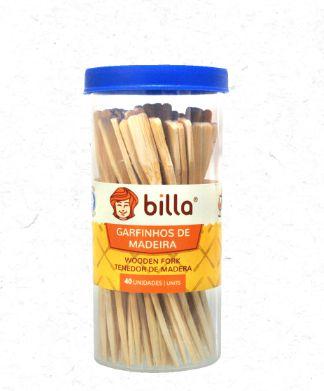 Garfinho de madeira pacote com 40 unidades - Billa