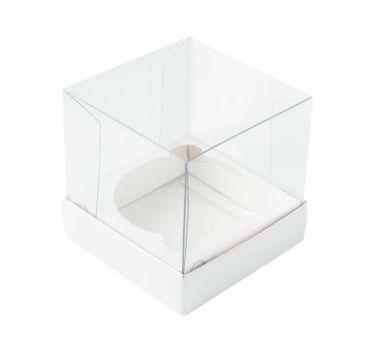Caixa para mini bolo branca pacote com 10 - G 08X08X08 - Assk