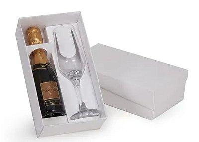 Caixa para mini champanhe e taça branca pacote com 5 unidades - 205X13X6 - ASSK