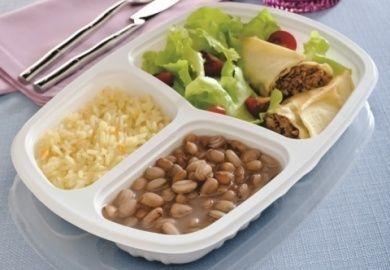 Embalagem pote para freezer e microondas caixa com 100 unidades - 850ml - G 331 - Galvanotek