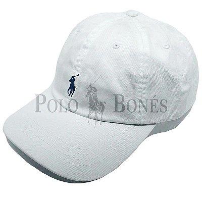 Boné Polo Ralph Lauren Fita de Pano Grossa Branco dc587485e43