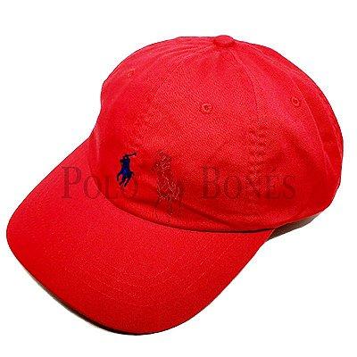 Boné Polo Ralph Lauren Fita de Pano Grossa Vermelho 61e55506d7c