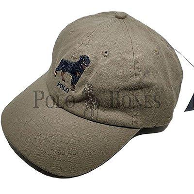 0b51917120ce5 Boné Polo Sport Ralph Lauren Bege Aba Azul Fita Fina - Polo Bonés