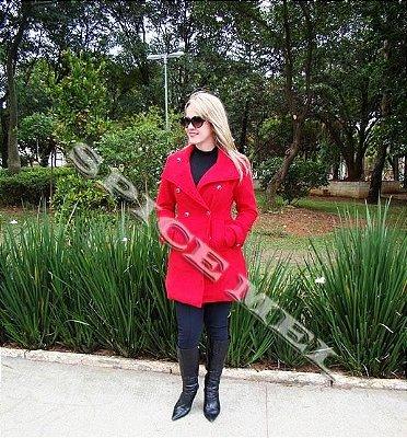 Caixa de Casaco Sobretudo em Lã Batida Safira Fashion  no Atacado ( 15 peças )