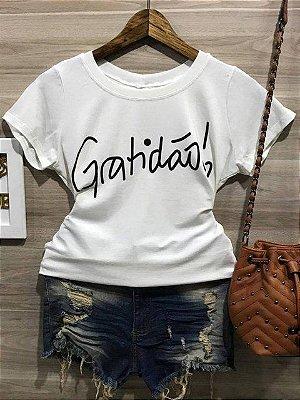 Camiseta manga curta GRATIDÃO !