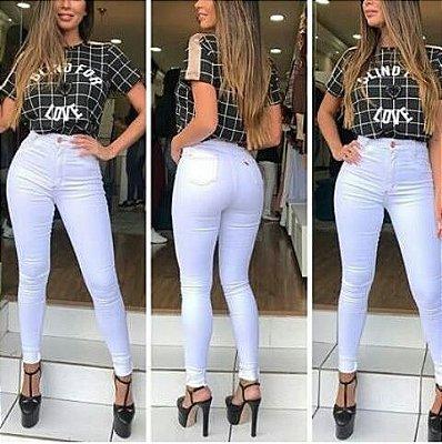 Calça Jeans Branca No Atacado ( Pacote Grade com 6 Peças 36,38,40,42,44,46 )