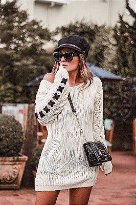 Blusa tricot long