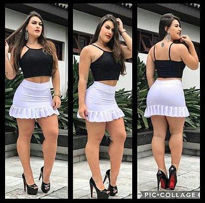 Shorts / Saia Barra preguinhas