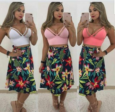 Top Cropped Decote ilusion