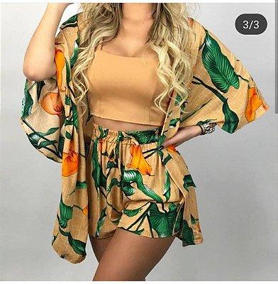 Conjunto Kimono + Shorts
