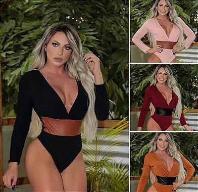Body Feminino Mangas Longa, Nova Coleção Outono Inverno 2019, Vendas no Atacado