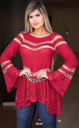 Blusa Tricot Moda Atacado - Coleção Outono Inverno 2019