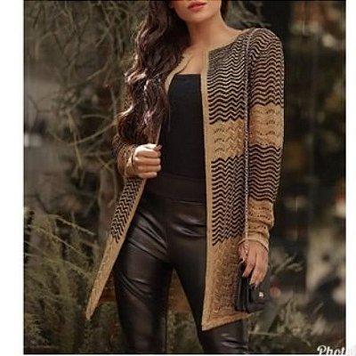 Casaco Kardigan Tricot, Moda Outono Inverno 2019