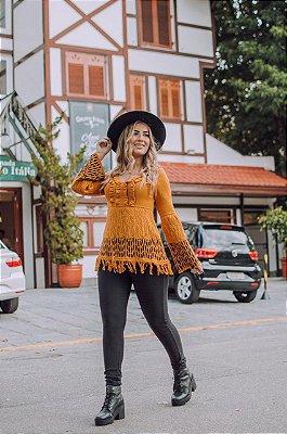 Blusa Tricot barra franja, Moda Outono Inverno Tricot 2019